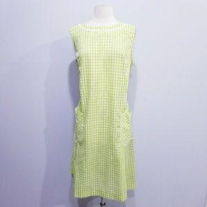 Vintage 60's mod ric rac print dress Large